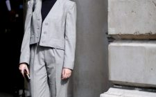 Street Style, Spring Summer 2015, London Fashion Week, Britain - 14 Sep 2014